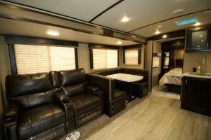 Travel Trailer Rental Living Room